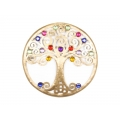 Metal Tree of Life & Gemstones Wall Plaque